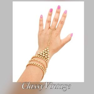 Boutique Jewelry - Multi chain bracelet with stretch ring