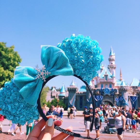 Elsa Themed Minnie Ears
