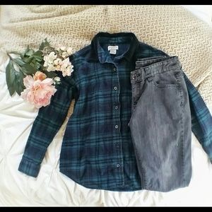 Classic Elements Tops - Teal and Navy Flannel