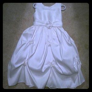 Gorgeous white sleeveless communion dress