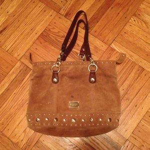 Michael Kors suede studded bag!