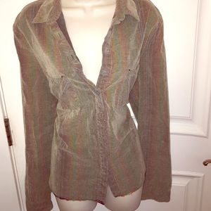 Funky free people button down blouse