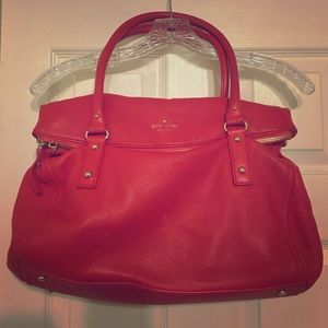 kate spade Poppy Red Pebbled Leather Satchel