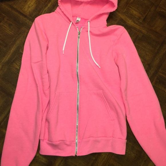 73% off American Apparel Tops - neon pink sweatshirt from Alyssa's ...