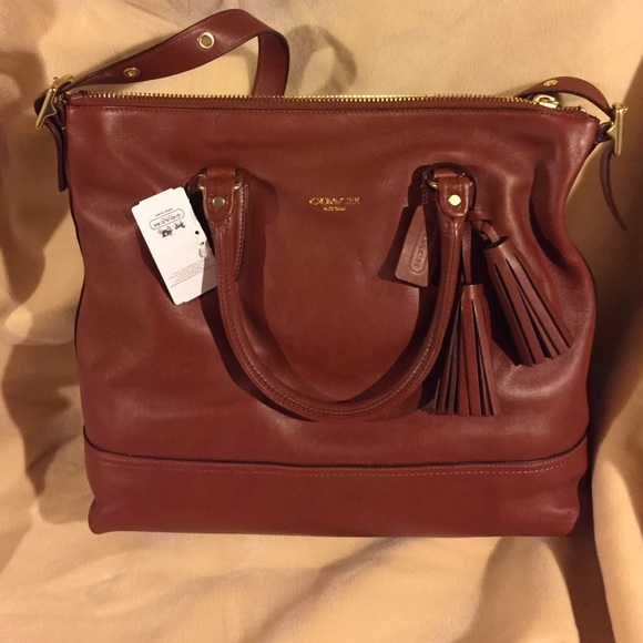 Coach Bags Nwt Legacy Leather Cognac Rory Satchel 19892