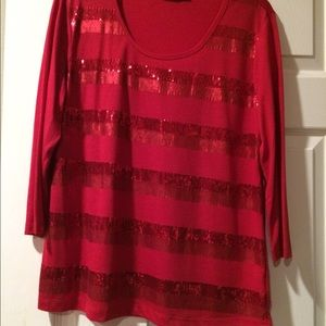 Tops - Red sequence blouse