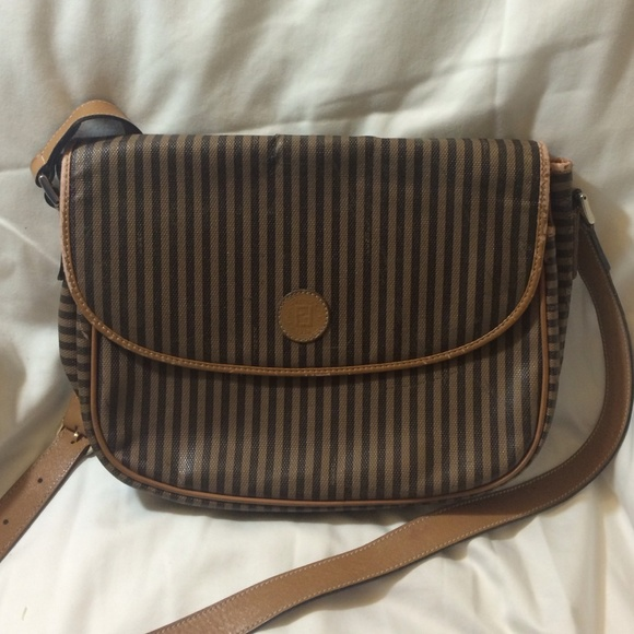 b1d6540f64 FENDI Handbags - Vintage Fendi Crossbody Purse Bag Tan Striped