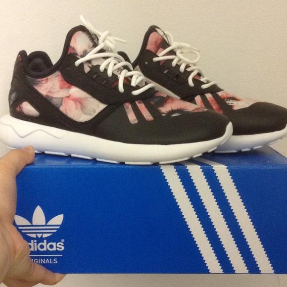 Adidas floral tubular runners 1243b128af