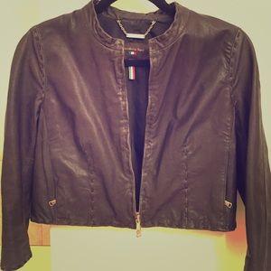 Benedetta Novi dark brown leather jacket