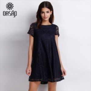 Oasap Dresses & Skirts - 🎉NWT🎉 OASAP Navy Blue Baby Doll Cap Sleeve Dress