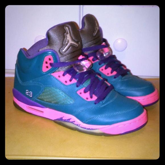 huge selection of 254ef 616b7 Air Jordan 5 Teal Pink & Purple