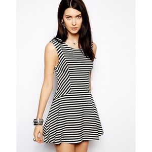 Free People BW striped Skater Dress