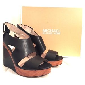 MICHAEL Michael Kors Wedges 9 Black 