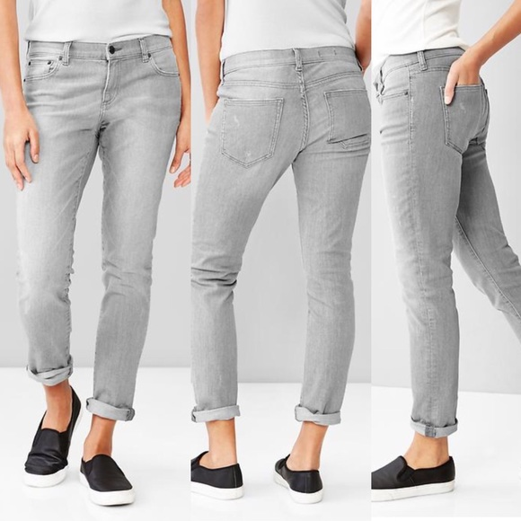 68% off GAP Denim - GAP 1969 Grey Boyfriend Jeans Size 29 / 8 from ...