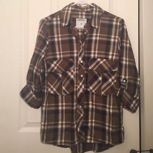 Zara   Plaid Button Up Shirt