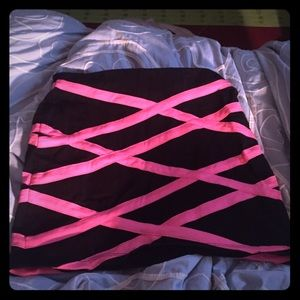 Hot pink and black skirt