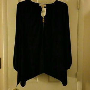 Michael Kors shark tail blouse women's 1x
