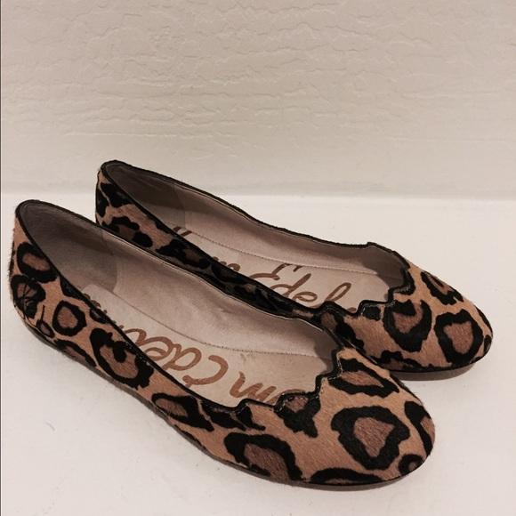 adf04b07163c Sam Edelman Alaine Flats leopard size 7 Leather. M 56401efa6e3ec21ca0020e11