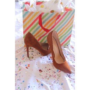 Shoerepublic la Shoes - Chestnut suede pumps