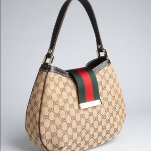 Authentic Gucci large Canvas Hobo Bag