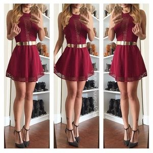 Dresses & Skirts - Meshed up skater dress