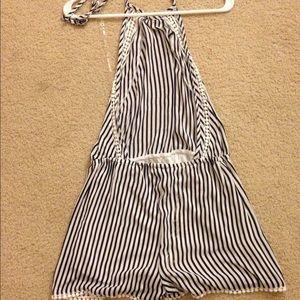 striped halter romper how to make