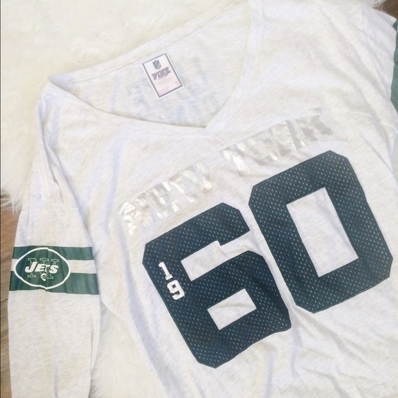 538def60 ... PINK Victorias Secret Tops - Victorias Secret Pink NFL New York Jets  Shirt ...