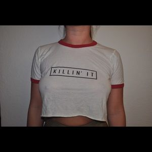 Brandy Melville Tops - Brandy Melville Killin' It Crop Top