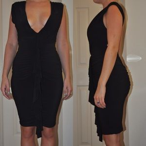 Hot Miami Styles Dresses - Hot Miami Styles Fitted Black Deep V Dress