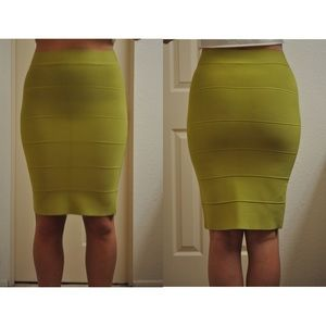 BCBG Skirts - BCBG Fitted Midi Bandage Skirt