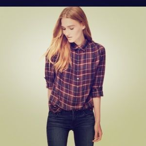 Salt Gypsy Tops - SALT. Plaid button down!