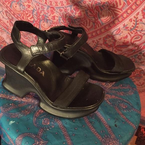 15be092965a ... Prada platform sandals. 1990! M 567cbaf2d14d7bb2dd008b85