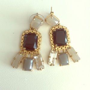 J. Crew Jewelry - J Crew Chandelier Stone Earrings NWOT