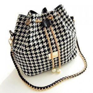 Handbags - Houndstooth Handbag