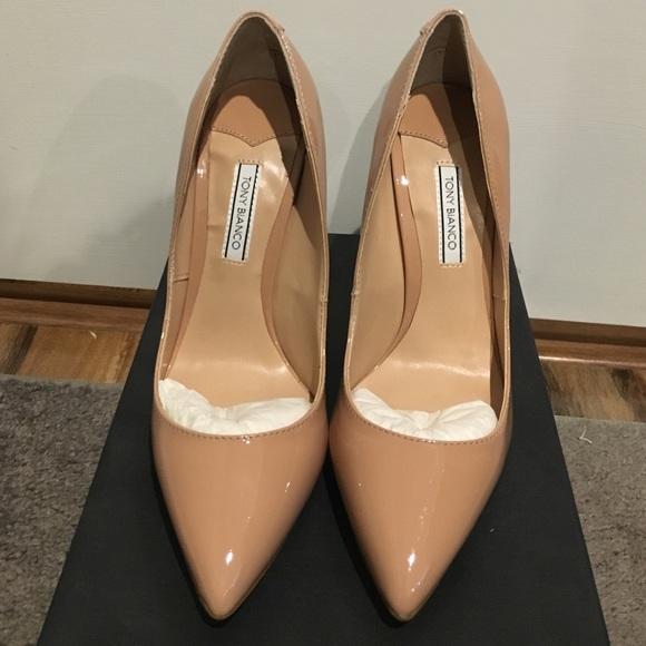 912e036920 Tony Bianco Shoes   Nude Patent Leather Pumps Leola Bnib   Poshmark