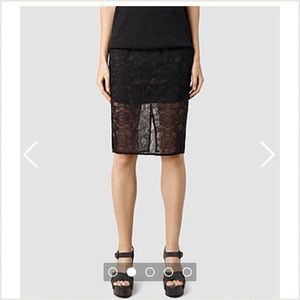 All Saints Moirety Skirt