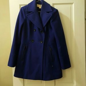 Michael kors xs wool trench