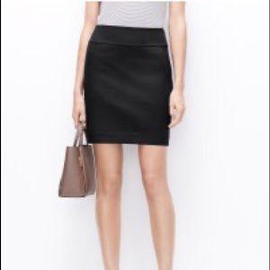 Black stretch mini pencil skirt zip up
