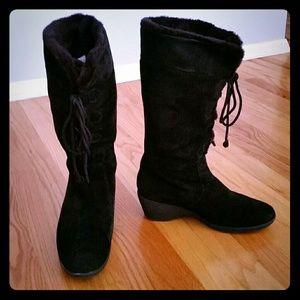 Khombu Shoes - Khombu black suede winter knee high boot 10