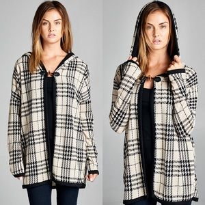 "Bare Anthology Sweaters - ""Serenity"" Plaid Hoodie Cardigan"