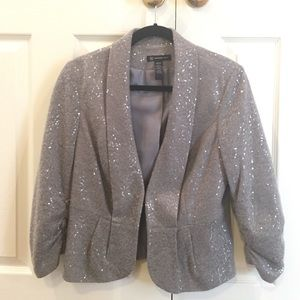 INC Gray sequined blazer