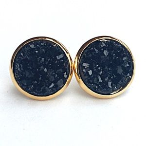 thejeweladdict Jewelry - 3 for 15🎀chunky black Druzy style earrings