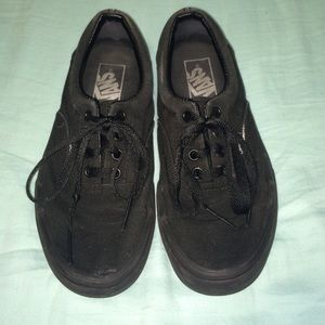 girls black vans shoes
