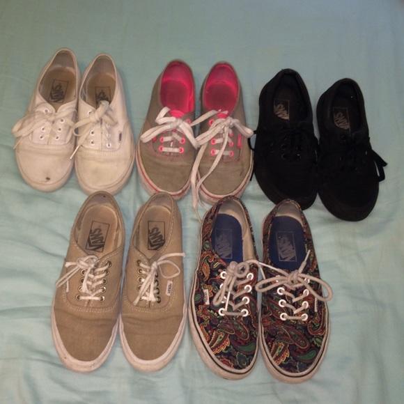 size 5 girls vans