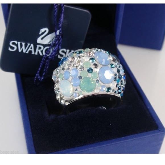 e90d1690c Swarovski Jewelry | Chic Multi Blue Ring | Poshmark
