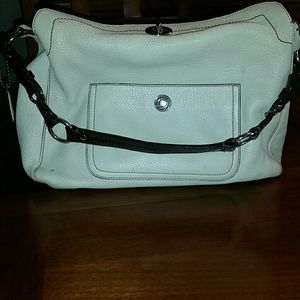 White leather coach bag SALE!!