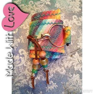 Hand Crafted cuff bracelet fully adjustable