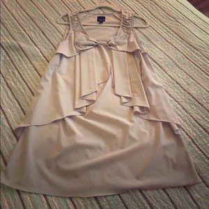 Aryn K bow front sleeveless dress