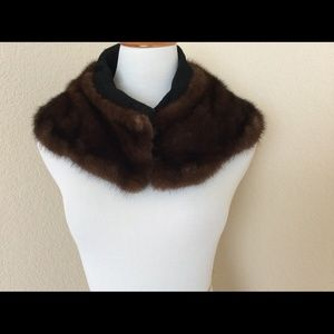 Vintage Accessories - Real Mink Fur collar shawl for jacket or coat