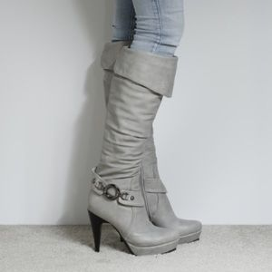 Traffic Shoes - Traffic Gray Heeled Boots